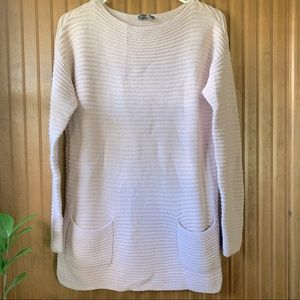 Vince Camuto Deep Ribbed Knitted Sweater | S